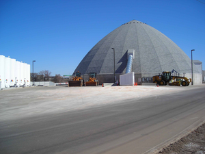 One of the City of Denver's storage facilities for road treatment products