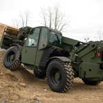 JLG's Millinia Military Vehicles extendable boom forklift