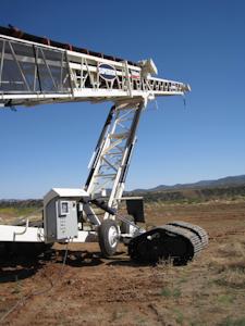 Superior Industries TeleStacker Conveyor with Radial Travel Tracks