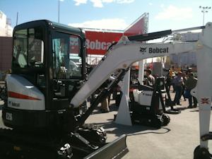 Bobcat showcases E26 minimal tail swing excavator