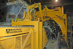 Rod Mill Liner Handlers from Builtrite Handlers & Attachments' Northshore Manufacturing  Mill Liner and work platform