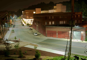 street lights in Asheville's River District and Kenilworth neighborhoods were replaced with 67-watt to 195-watt LEDway luminaires, estimated to save the City $45,000 in annual energy costs. An additional 2,913 LEDway street lights are currently being installed, and the City anticipates saving 50 percent of current energy use and maintenance costs due to the LED upgrade.