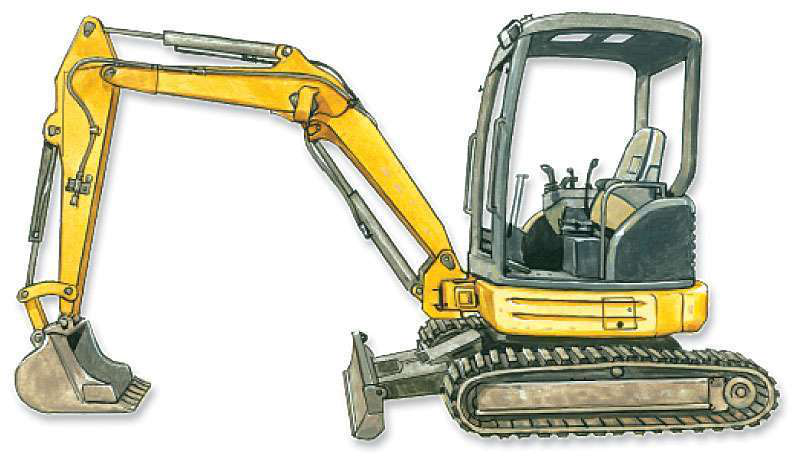 How to inspect a used compact excavator