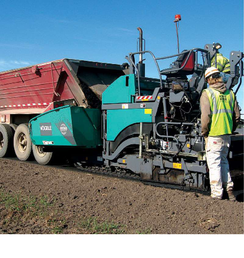 Equipped With An Electri Y Heated V Version Ab 340 Extending Screed The Vogele Super 1300 2 Tracked Asphalt Paver Can Pave A Mat As Narrow As