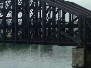 Aging steel bridge