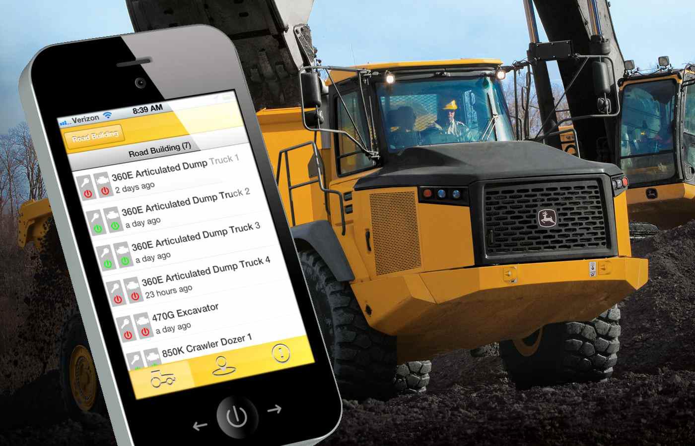 John deere releases jdlink machine monitoring mobile app for Application construction maison ipad