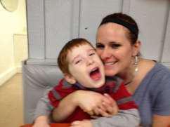Tina Grady Barbaccia and her son