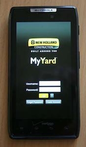 CNH My Yard app