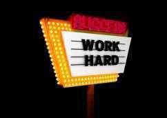 Success: Work Hard photo
