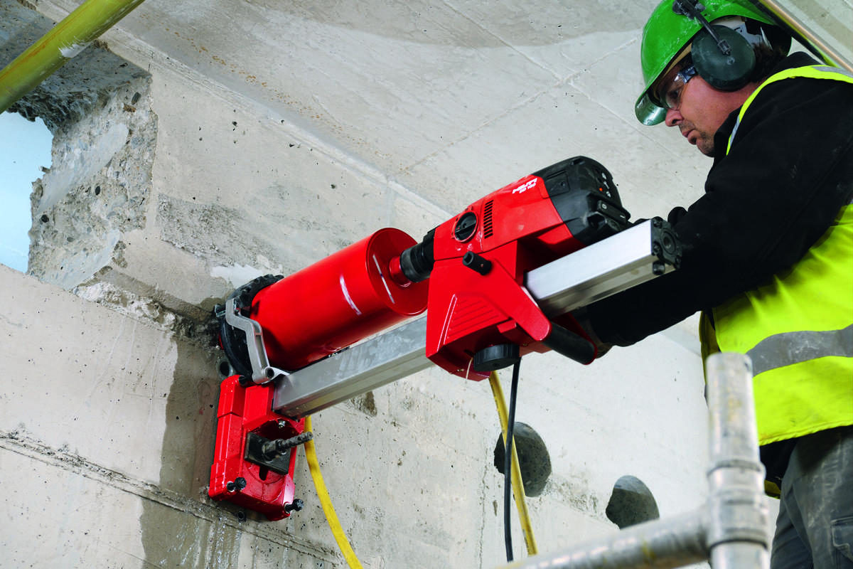 Boring Building Material : Indicator light guides cuts on hilti dd video