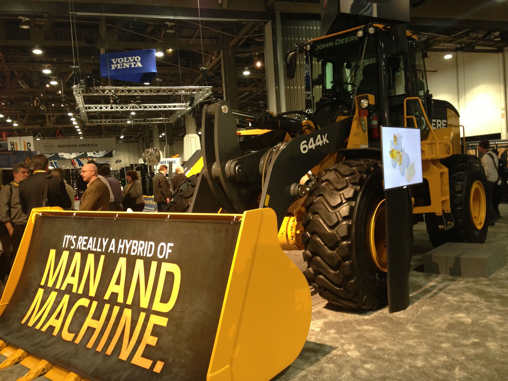 John Deere electric hybrid 644K wheel loader