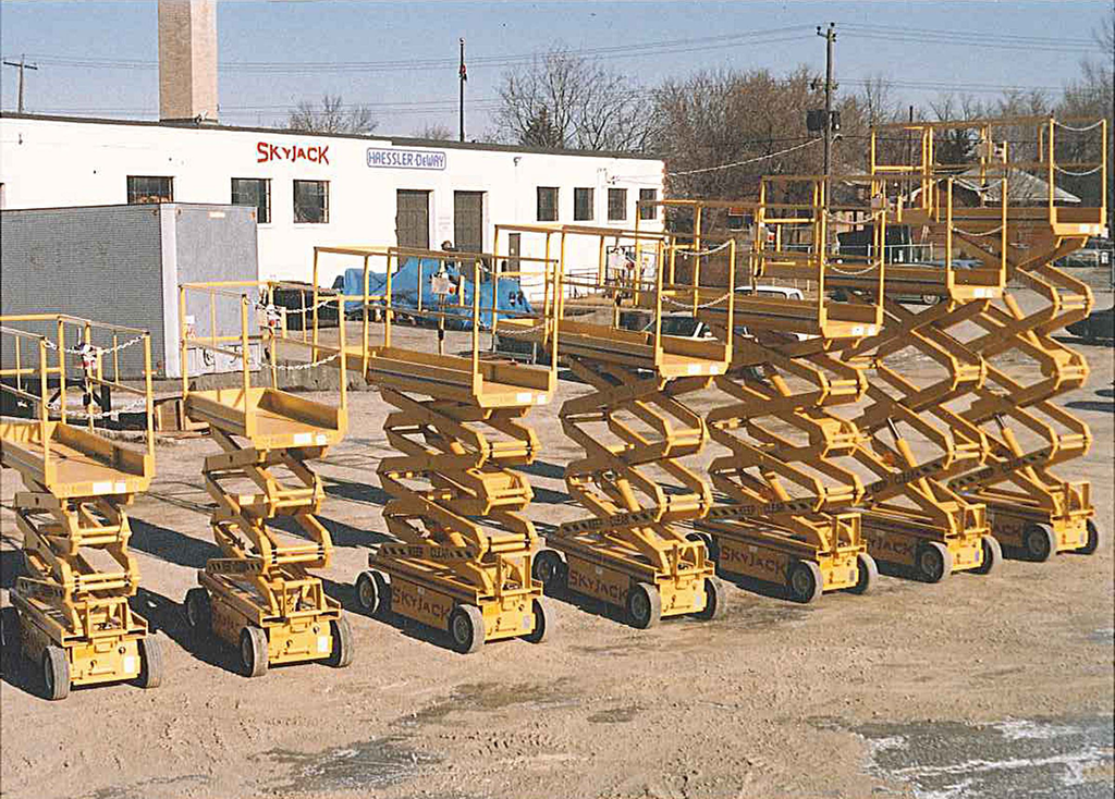 Some of first Skylift scissors produced in Canada