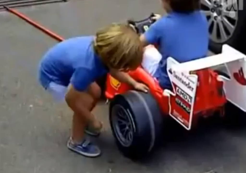 This video of kids playing pit crew will make you smile