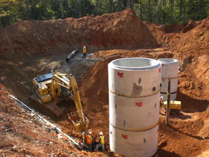 Page & Associates has done several sewer and water projects for the nearby city of Trinity.