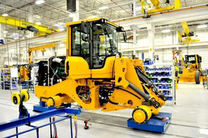 wheel loader in production