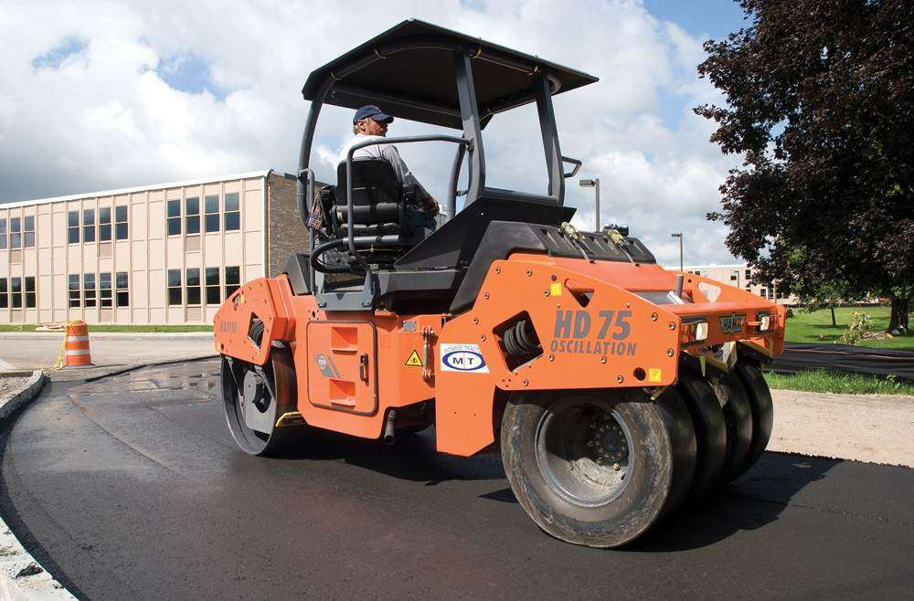 What It Takes To Pave A Parking Lot Part 2 Rollers