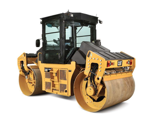 Caterpillar recommends the CD54B as an intermediate roller on the parking lot.