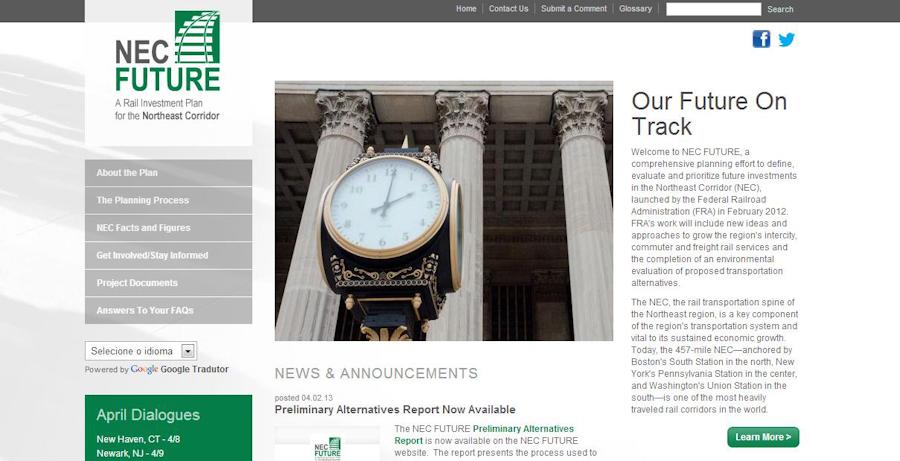 NEC plan website