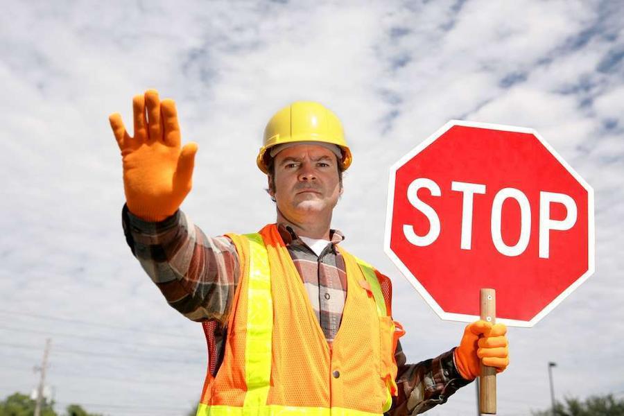 work zone worker