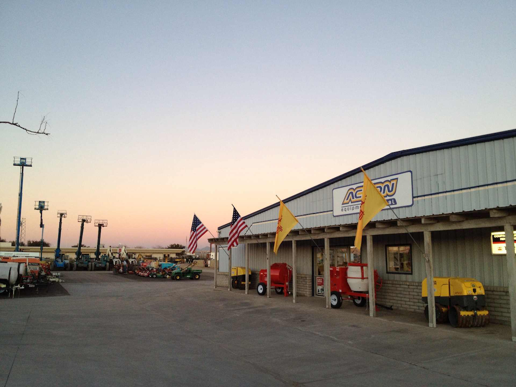 The Action Equipment rental yard in Las Cruces, New Mexico.