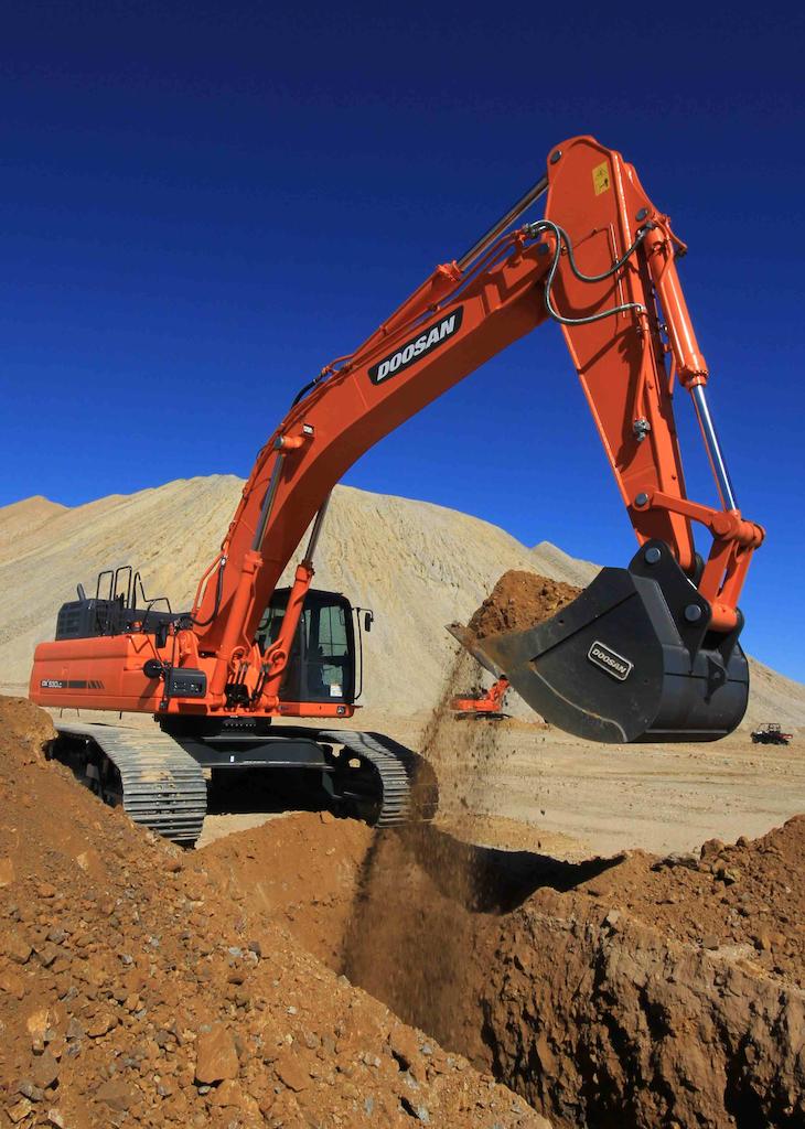 Doosan DX530LC-3 excavator