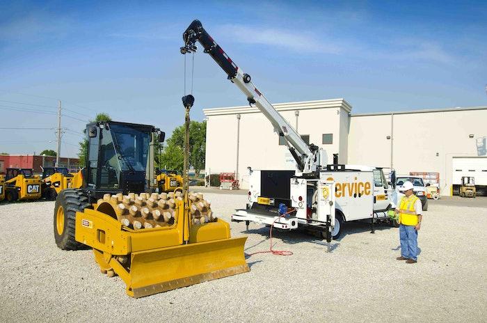 IMT crane Cat compactor