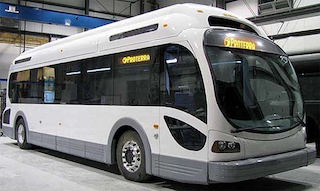 An electric bus built by Proterra. (Photo: Proterra)