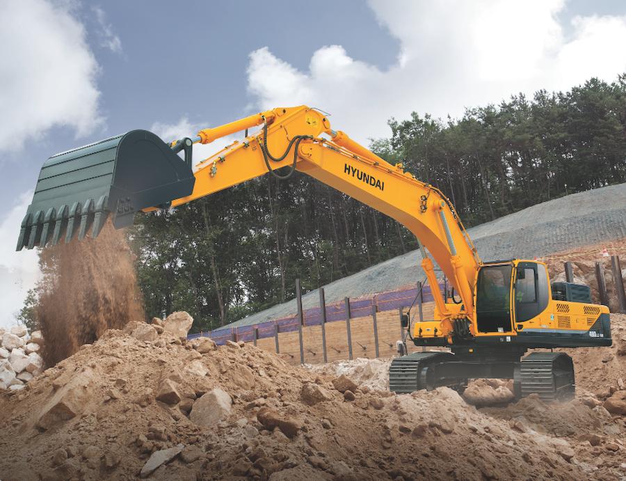 Hyundai's R480LC-9A production-class crawler excavator