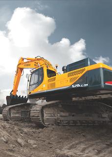 Hyundai's R520LC-9A production-class crawler excavator