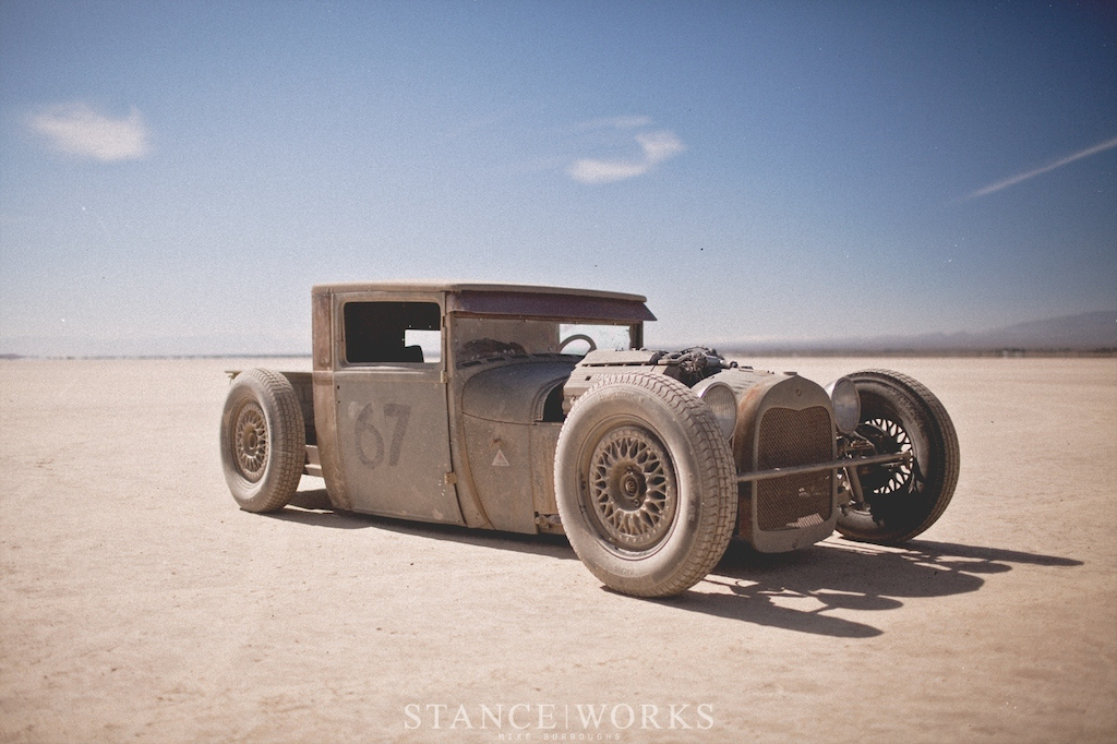 Ford Model A hot rod with BMW V-8