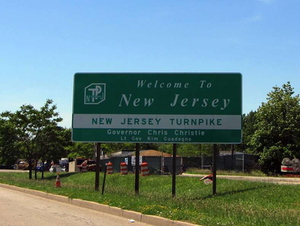 New Jersey Welcome Sign