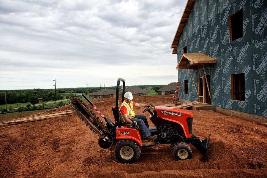 Ditch Witch RT30 ride-on trencher