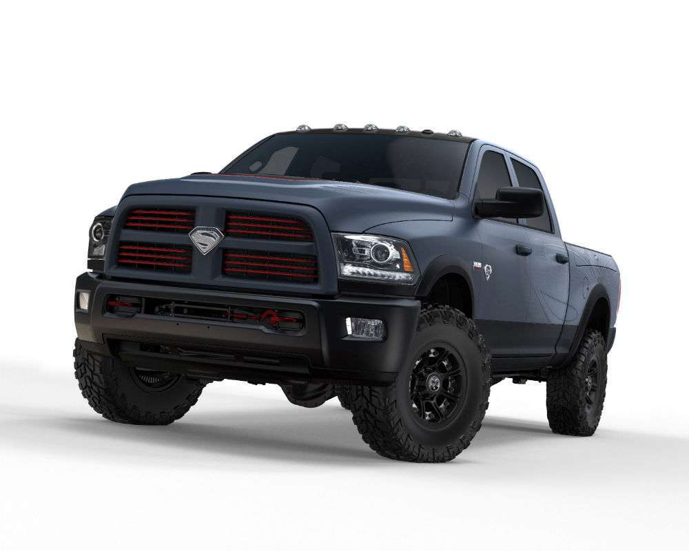 ram trucks and superman team up for man of steel edition power wagon new ad video. Black Bedroom Furniture Sets. Home Design Ideas
