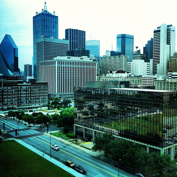Downtown Dallas as seen from the Omni Hotel