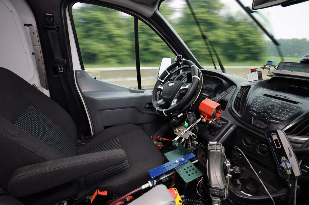 Ford Trucks robotic test driving system