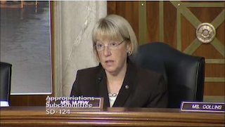 Senator Murray speaks about U.S. infrastructure at Thursday's bridge collapse hearing.