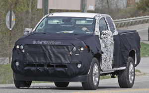 A spy shot of the 2015 Chevrolet Colorado during testing reveals design changes. GM is said to be planning on bringing a diesel option to the Colorado and GMC Canyon.