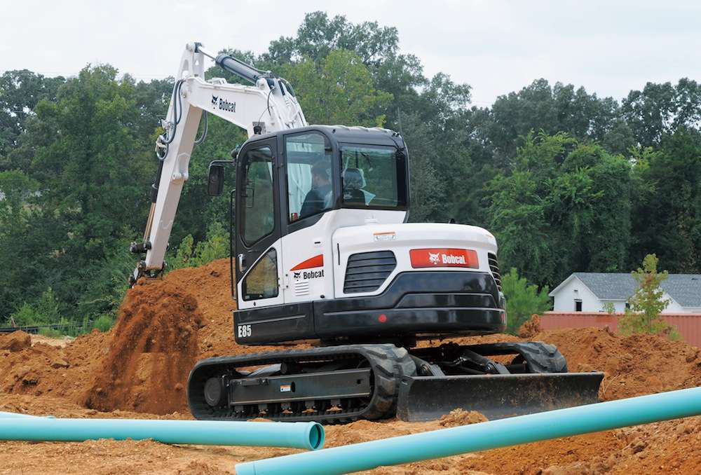 Bobcat's new E85 is its largest compact excavator yet.