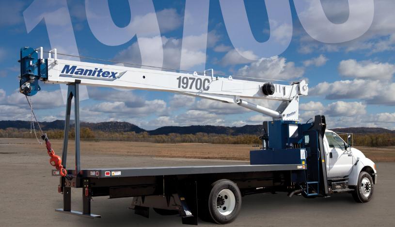 Manitex 1970C boom truck crane