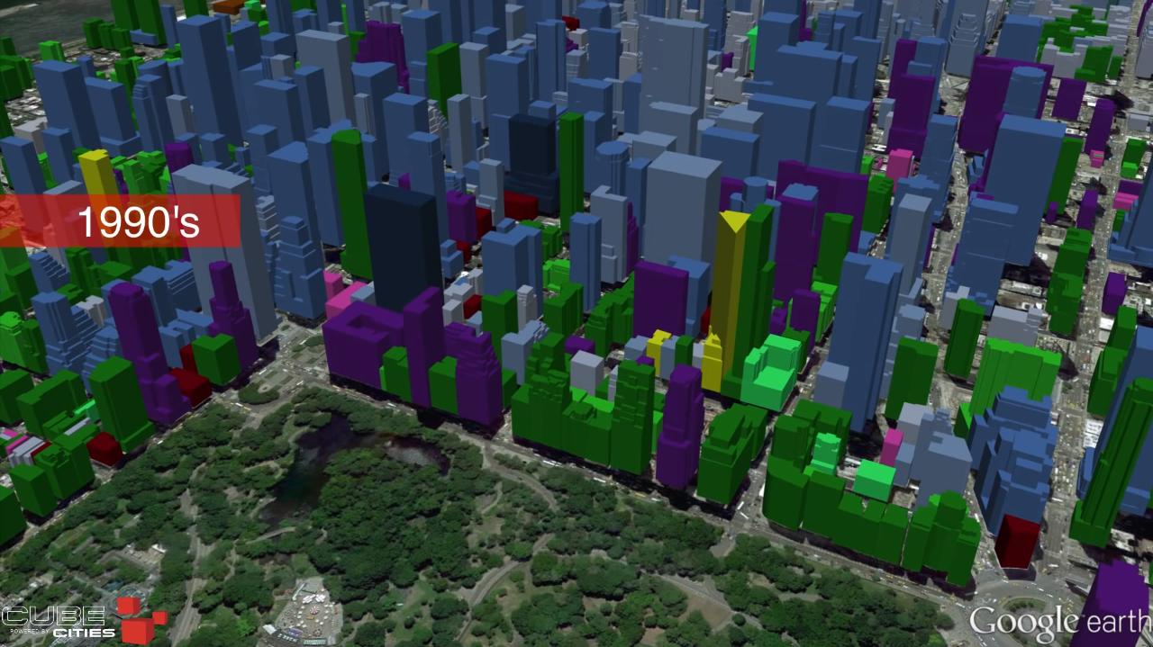 Manhattan construction growth visualization