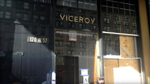 The scene outside the Viceroy Hotel in New York City after an explosion. Credit: WINS-AM