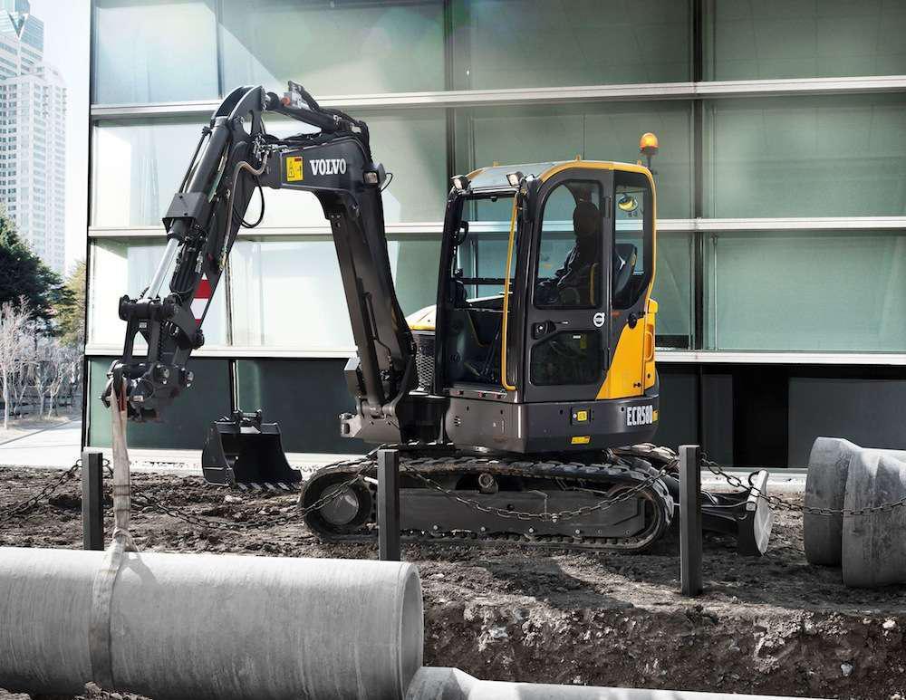 Volvo ECR58D short swing radius excavator