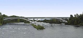 Rendering of the new Willamette River Bridge (Photo: Oregon Department of Transportation)