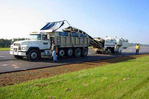 A photo of a Boggs Paving Inc. dump truck from the company's website.