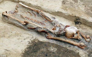 Remains of an accused vampire from the Middle Ages.