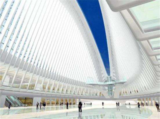 The WTC transportation hub will feature two wing-like sections that will open on September 11 each year to let light shine through a skylight. (Photo: Port Authority of New York & New Jersey and STV Incorporated, via LowerManhattan.info)