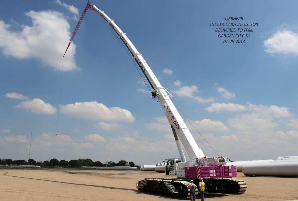 Liebherr LTR 1200 telescopic boom crawler crane