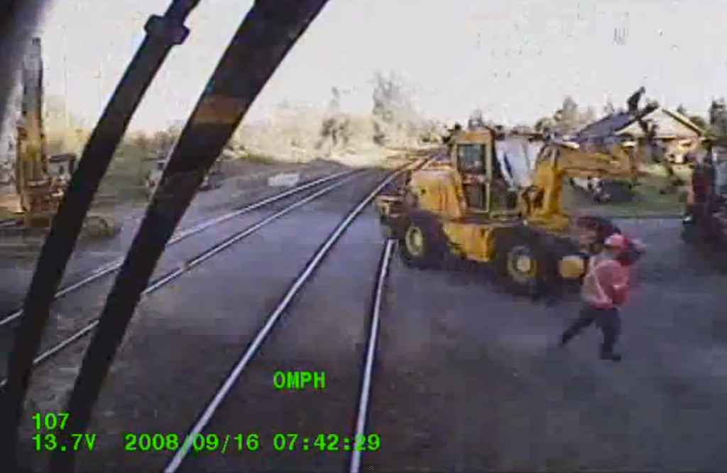 train crashes equipment
