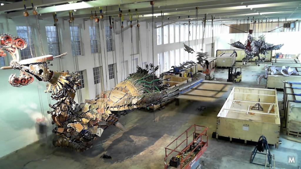 Phoenix construction debris sculpture