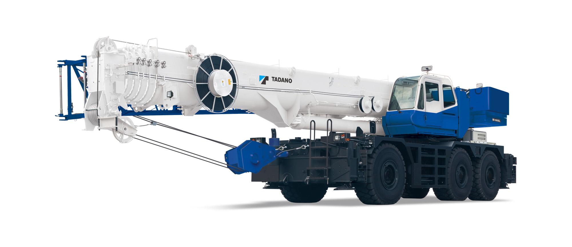 Telescopic Crane 200 Ton : Tadano gr xl rough terrain crane delivers ton